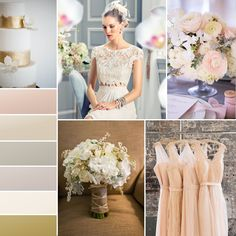"""Gold and taupe offer a contemporary alternative to the traditional white or ivory dress. This season, we're offering gowns in these flattering shades."" —@moonlightbridal"