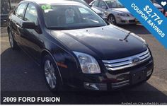 2009 FORD FUSION / $2,774 IN COUPONS ! Additional Savings Available!!