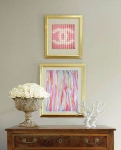 Spring Summer Missoni and Chanel Inspired Abstract Acrylic Painting on Canvas. $145.00, via Etsy.