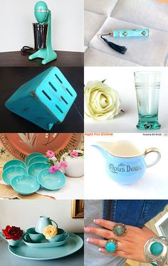 Totally Turquoise ~ Thrifty Vintage Team by Sara on Etsy--Pinned with…