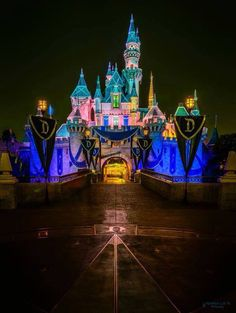 "Disneyland California 2019 - Disneyland Sleeping Beauty& Castle decorated for the ""Diamond Celebration"" . Walt Disney, Disney Nerd, Disney Love, Disney Magic, Disney Parks, Disney Fanatic, Disney Stuff, Disneyland Today, Disneyland California Adventure"
