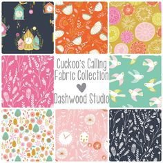 Cuckoo's Calling - Dashwood Studio - Fabric Bundle- doesnt look that cute in this pin, but i've seen it as a quilt and it's fab