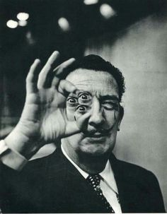 """The king of strange. """"Surrealism is not a movement. It is a latent state of mind perceivable through the powers of dream and nightmare."""" ― Salvador Dalí // photo - Dali by Phillipe Halsman Photomontage, Collage Foto, Philippe Halsman, Alberto Giacometti, Portraits, Surreal Art, Surreal Photos, Psychedelic Art, Clown Tattoo"""