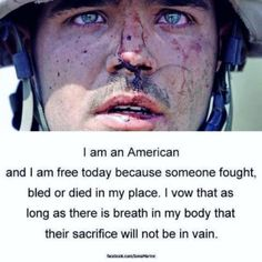 I Am An American, soldier. God bless America and our men and women serving in the military. May God protect you! Military Quotes, Military Love, Army Quotes, Military Service, We Are The World, In This World, Gi Joe, My Champion, Support Our Troops