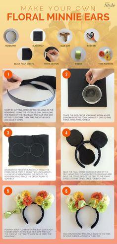 How to make flower Minnie ears