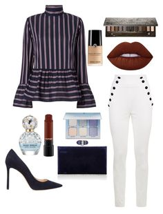 """""""looking classy as ever"""" by drashti-patel on Polyvore featuring Le Sarte Pettegole, Jimmy Choo, Judith Leiber, Marc Jacobs, Anastasia Beverly Hills, Lime Crime and Urban Decay"""