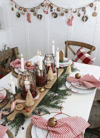 Farmhouse Christmas Decor, Christmas Kitchen, Country Christmas, Christmas Time, Vintage Christmas, Christmas Crafts, Christmas Ornaments, Merry Christmas, Christmas Napkins