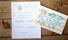 I Love My Blog: Free Printable Blog Planner