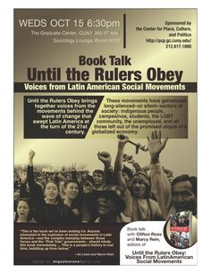 CPPC: Book Talk: Until the Rulers Obey