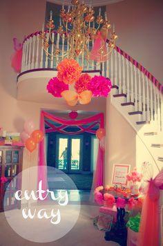 Butterfly Tulle Pink Orange Birthday