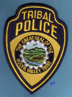 Hoopa Valley California Tribal police patch. LBD