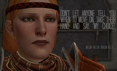 Wise words from Aveline. [Dragon Age II]