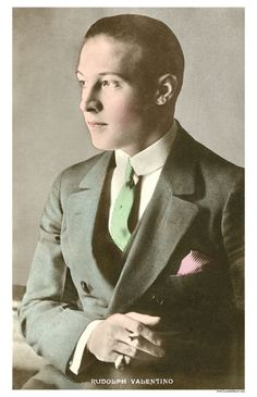 Rudolph Valentino Collectibles: Five Different Rudolph Valentino Postcards