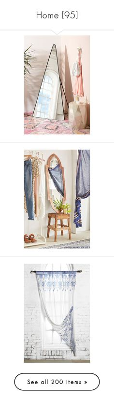 """Home [95]"" by gdavilla ❤ liked on Polyvore featuring home, home decor, mirrors, full length standing mirror, full length mirror, urban outfitters, pipe stand, folding full length mirror, mirror and rooms"