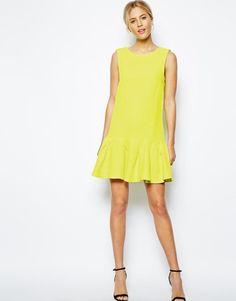 ASOS | ASOS Peplum Hem Textured Shift Dress at ASOS