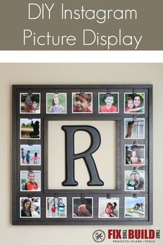 Create a unique wall gallery with this DIY Instagram Picture Display