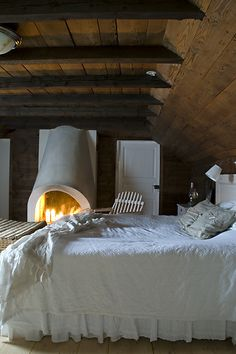 I would love to have a fireplace in my bedroom.