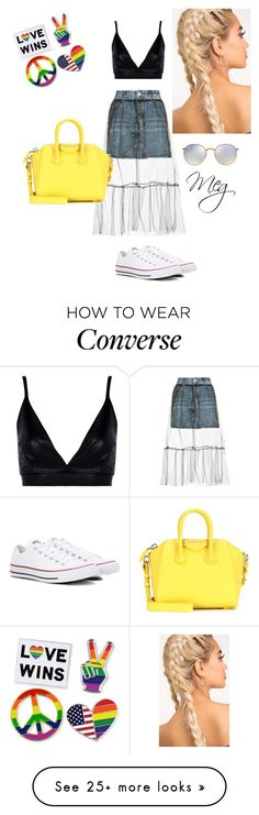 """""""look cañero"""" by merimeg on Polyvore featuring Topshop, Boohoo, Converse, Givenchy and Ray-Ban"""