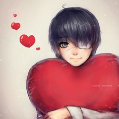 Tokyo Ghoul: Be my Valentine? by Alicere on DeviantArt -- ;m; yess