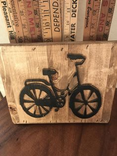 Bicycle Sign Carved In Wood Spinning Cyclist Gift Brooden