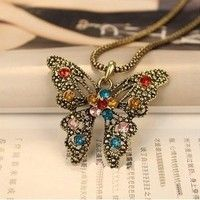 I think you'll like Vintage Retro Fashion Jewelry Necklace Cute Buttergly. Add it to your wishlist!  http://www.wish.com/c/51c3b10865cfdb0b33aaaf21