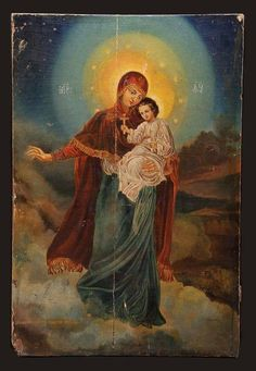 Hail Holy Queen, Catacombs, Catholic Saints, My Favorite Image, God Jesus, Rice Paper, Our Lady, Madonna, Blessed