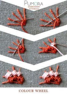 colour wheel stitch tutorial