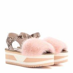 6510433f0a68e Dolce   Gabbana Mink Fur Platform Sandals Plateforme
