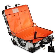 Kate Spade orange and flowery suitcase