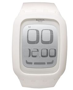 Swatch Watch, Unisex Swiss Digital Touch Screen White Silicone Strap 39mm SURW100 - All Watches - Jewelry & Watches, $140 - Macy's