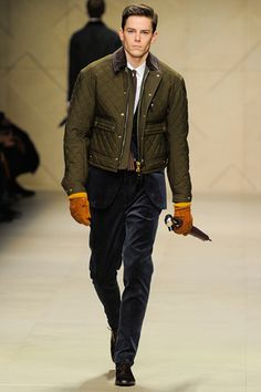 Burberry Prorsum AW12  Love the suit... not keen on the jacket over it. Separately - the quilted jacket is pretty sexy.