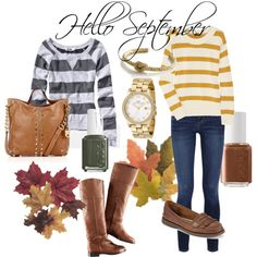Stripes and Boots for Fall 2011 #fashion #polyvore