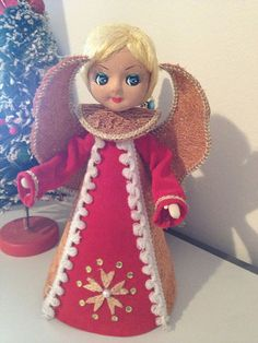 Homemade Angel Tree Topper ~ Vintage Christmas