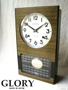 アンティーク振り子時計GLORY機械式レトロ昭和柱時計 Watch wall clock ¥6800yen 〆04月13日