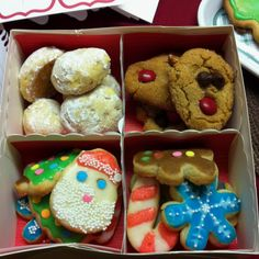 christmas cookies in compartment box christmas gift ideas