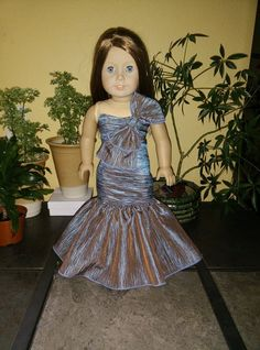 "Beautiful Mermaid Dress gown for American Girl Dolls and 18"" Dolls."