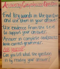 Teaching With a Mountain View: Answering Comprehension Questions