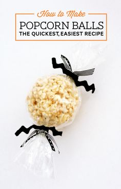 Easiest Popcorn Ball Recipe at PagingSupermom.com I have never used both brown sugar and marshmallows, but sounds good