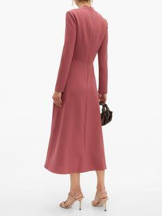 Chic Dress, Classy Dress, Classy Outfits, Dress Skirt, Work Outfits, Special Occasion Outfits, Occasion Dresses, High Collar Dress, Pakistani Fashion Casual