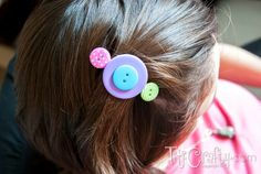 Buttons Hair Clips