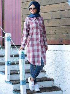 Muslim Women Fashion, Modern Hijab Fashion, Hijab Fashion Inspiration, Islamic Fashion, Modest Fashion, Look Fashion, Fashion Outfits, Hijab Style, Hijab Chic