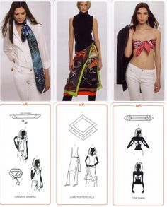 Second one cool Ways To Wear A Scarf, How To Wear Scarves, Scarf Knots, Scarf Wrap, Bandana, Sewing Blouses, Egyptian Costume, Funny Outfits, Scarf Hairstyles
