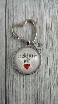 Schlüsselanhänger - 1 Schlüsselanhänger Erzieherin mit ♥ - ein Designerstück von nanni74 bei DaWanda