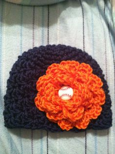 Crocheted Detroit Tigers baby hat by cnewman1 on Etsy, $12.00