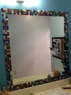 15 diy mosaic projects to beautify your home grout tile mirror the most awesome images on the internet tiled mirrormosaic mirrorsdiy solutioingenieria Image collections