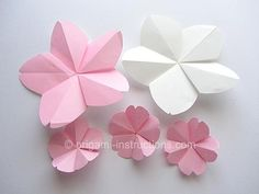 DIY Easy Origami Cherry Blossom DIY Origami DIY Craft