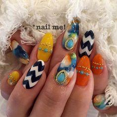 次号ネイルUP!掲載デザイン☆#ネイルUP#タイダイネイル#夏ネイル#nail #nails #nailme #hachioji #八王子…