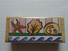 $10.95 #RubberStamp #StampaRosa Beach Sea Shell Shelf #PaperCrafting  https://www.etsy.com/shop/ShellysSweetFinds