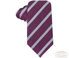 Tasso Elba Melange Stripe Purple Tie