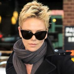 Charlize Theron is a goddess of pixie hairstyles! So we have rounded up best images of Charlize Theron Pixie Haircut for you to get inspired by her fabulous Short Hair Trends, Short Hair Styles, Pixie Hairstyles, Trendy Hairstyles, Short Haircuts, Celebrity Hairstyles, Short Cropped Hairstyles, 2014 Hairstyles, Layered Hairstyle